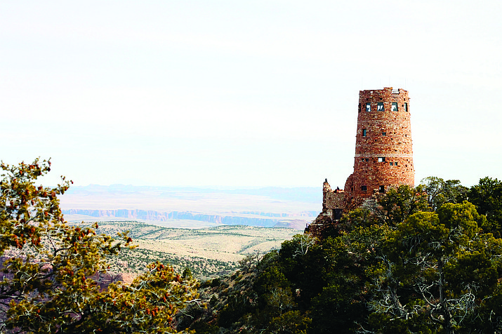 Desert View Watchtower, designed by well-known Grand Canyon architect Mary Colter, was modeled after several Puebloan structures in the region.