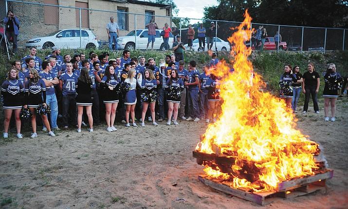 The homecoming bonfire (Prescott High School, 2015) is one highlight of homecoming week.
