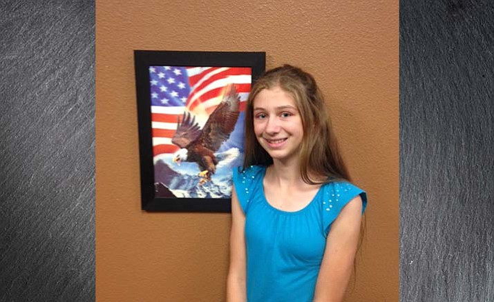 Paige Caswell is the Humboldt Unified School District student of the week for Sept. 21, 2016.