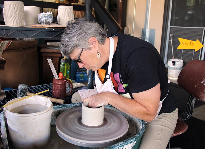 Artist Abby Brill was one of more than 70 participating artists in the Prescott Area Artist Studio Tour.