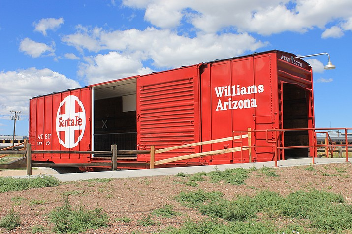 The Arizona State Railroad Museum group has contributed several vintage railroad cars and other items to the city of Williams.