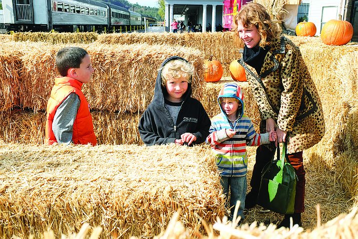 The Pumpkin Patch Train provides a 90-minute round-trip ride for customers, and features a maze, arts and crafts, holiday treats and the opportunity to pick out a pumpkin.