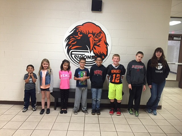 The Williams Elementary-Middle School September Students of the Month.