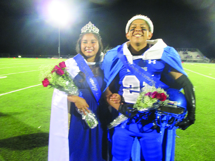 Homecoming king Drew David and his Queen Lauren Eustace were crowned during halftime at the homecoming football game Sept. 30. Photo/Stan Bindell
