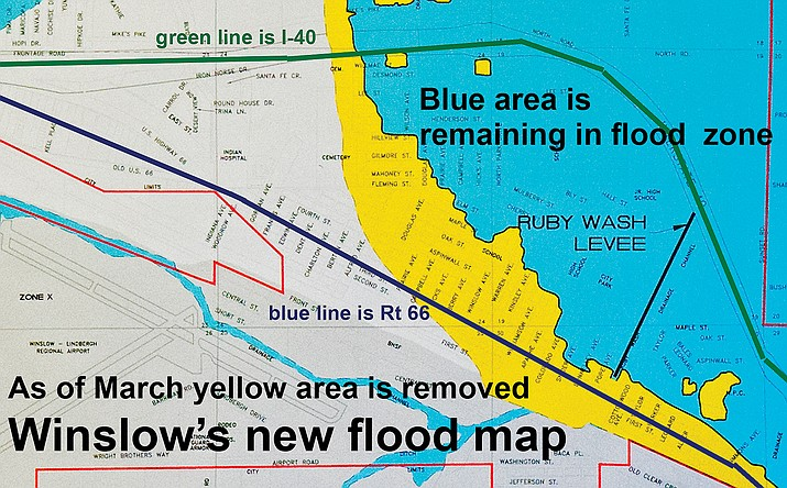 FEMA Finalizes Winslows Flood Plain Map NavajoHopi Observer - Current fema flood maps