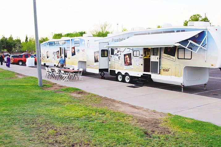 The Prostate On-Site Project's mobile medical service will be in Kingman Wednesday offering prostate cancer screenings.
