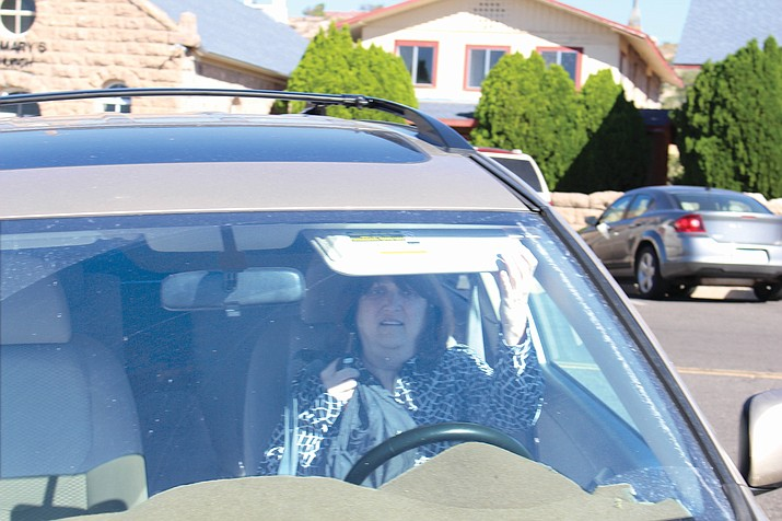 Diane Maxine Richards leaves the Mohave County Superior Courthouse in her vehicle Tuesday after a brief appearance in front of Judge Billy Sipe.