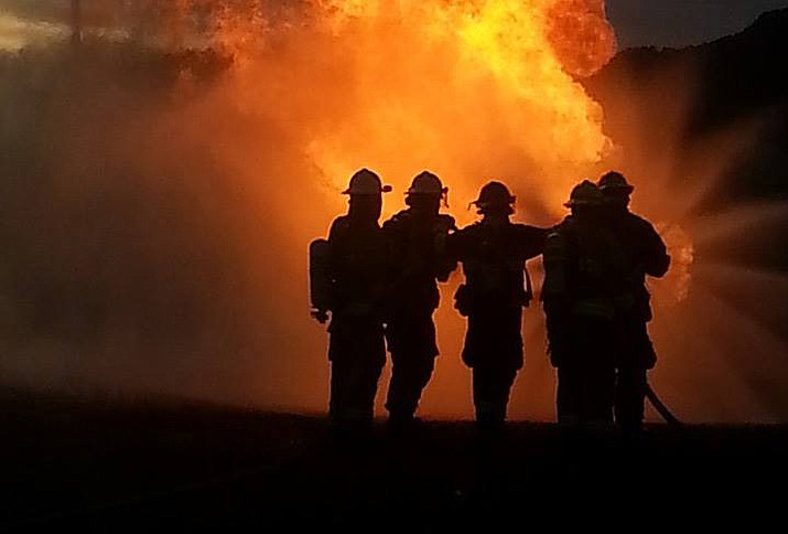 Williams Fire Department participates in a summer training.