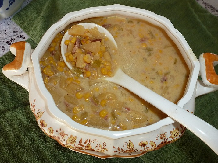 Slow Cooker Corn Ham & Cheese Chowder is the Cooking with Diane recipe for Oct. 12, 2016.