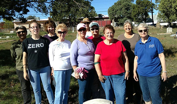 From left to right: Nancy Silacci, family member, Kathy Machmer, Carol Kelly, Sheri Mesch, Linda Shebek, Patsy Silvey, Betty Bourgault, Janet Winston, Sue Burk