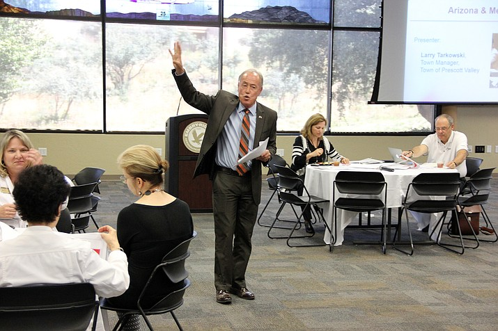 Prescott Valley Town Manager Larry Tarkowski was one of several speakers at a recent Arizona Town Hall community outreach meeting in Prescott that addressed Arizona's economic relationship with Mexico.
