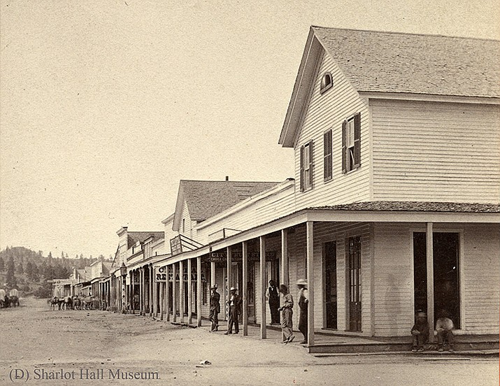The Diana Saloon, sited where Hotel St. Michael is located today, was the true impetus behind most other early Prescott saloons being constructed on Montezuma Street in the 1870s.