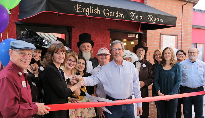 The English Garden Tea Room celebrated its official grand opening Sunday, Oct. 9.