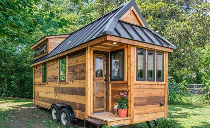 Tiny homes come in two forms those with wheels such as this example