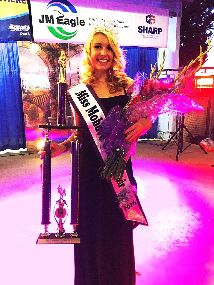 Caytelyn Clinkenbeard continues her reign as the inaugural queen of the Mohave County Fair.