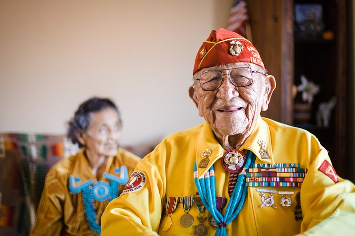 Navajo Code Talker Dan Akee celebrates his 96th birthday. Nov. 11, 2015 at his home in Tuba City. Akee passed away Oct.14. Photo/Ryan Williams Photography