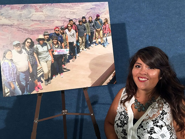 Anakarina Rodriguez of southern Arizona supports naming the greater Grand Canyon area as a national monument. Rodriguez joined other Latino voices in Washington urging its approval.