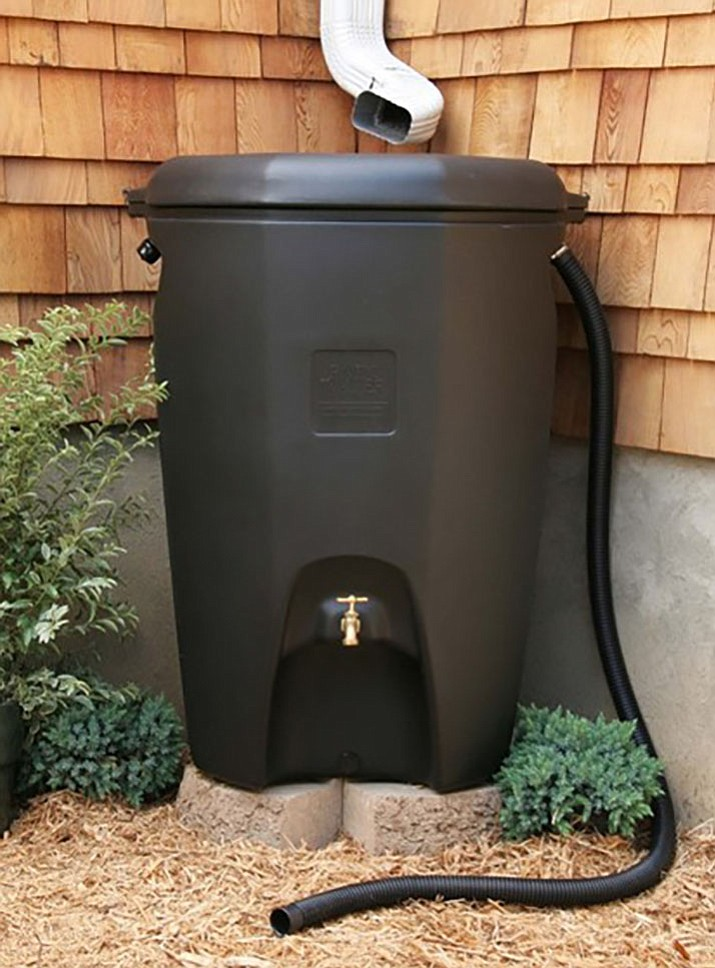 This rainwater harvesting system shows how rainwater can collect and be processed.