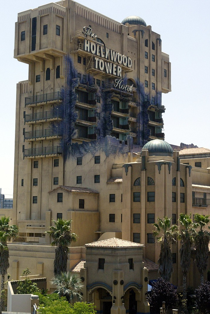 The Twilight Zone Tower of Terror ride at the Disneyland Resort in Anaheim, Calif.