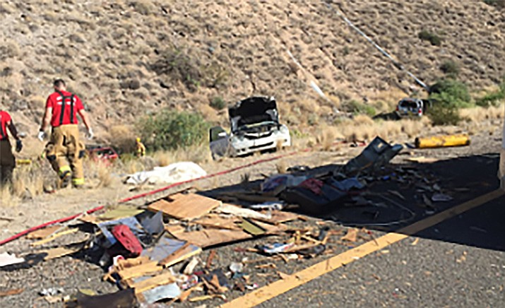 Multiple vehicles were rear-ended by a cattle hauler on Interstate 17 at milepost 246 Sunday. DPS troopers are working to determine why the truck did not stop.