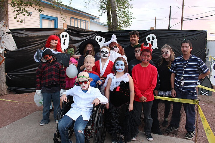 MIKID unveiled its Nightmare Before Christmas Halloween House on Friday at 606 E. Beale Street. MIKID, which stands for Mentally Ill Kids in Distress, gave candy to the trick-or-treaters while they passed through a graveyard and other frightening displays. It was put on by the Peer Support youth group, which is made up of volunteers aged 12 to 18. The event was overseen by Victoria Edwards and Manny Lakhan, Northern Regional direct service leads.