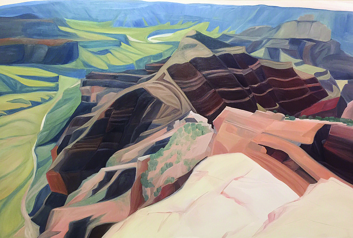 """Unkar Delta at Walhalla Overlook"" was completed during Gilley's residency on the North Rim."