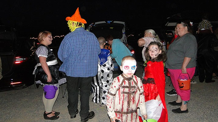 Trunk or Treat participants enjoying the night.