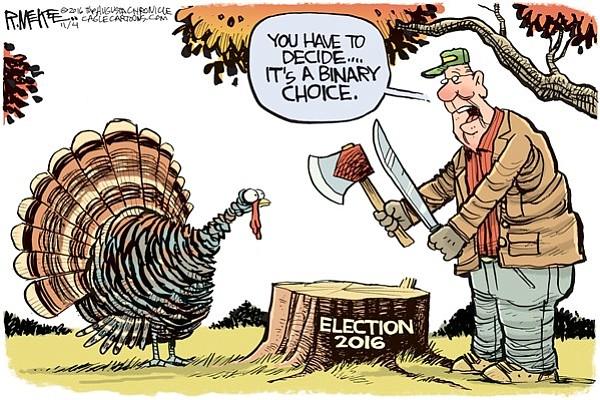 Editorial cartoon: Nov. 6, 2016