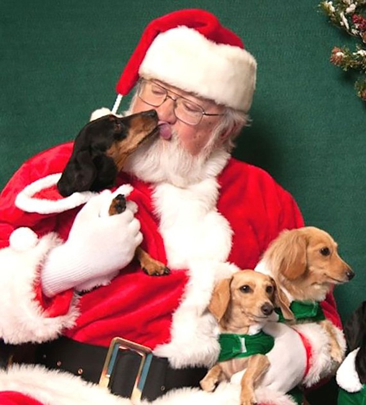 Holiday photos of Santa with pets and family members will be taken from noon to 3 p.m. Nov. 12 and 19, at Whiskers Barkery, 225 W. Gurley St. in downtown Prescott.