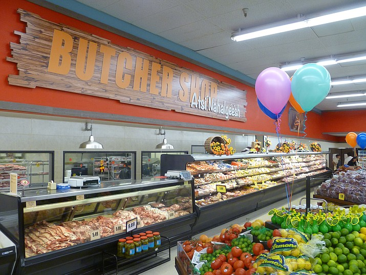 The Bashas' Diné Market in Chinle was remodeled with a celebration taking place Nov. 2. The new store features new decor and murals celebrating Navajo culture, a new deli, more self serve options, more tables and rack in the produce department and new freezers. Submitted photo