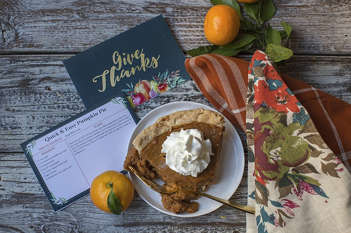 Printed recipe cards, such as these designed by crafter Lia Griffith and available for download on her website, add a unique element to your Thanksgiving table and allow you to send guests home with a detailed family recipe when the celebration ends.