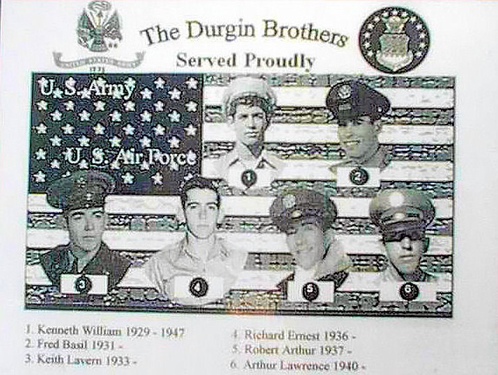 This photograph says all you need to know about the sacrifices the Durgin family made.