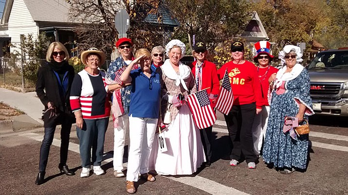 Pictured are: Jan Jordano, Betty Bourgault, Linda Shebek, Judith Fullerton, Sue Burk, Sheri Mesch, Carolyn Smith (U.S. Army, retired), Tina Bourdon (U.S. Marine Corps, retired), Patsy Silvey, and Janet Winston.  Not pictured are: Kathy Machmer and Lee Nelson.