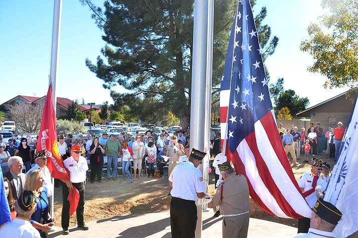 Veterans Day was the perfect symbolic day for the official opening of the new Verde Valley Military Service Park as residents from all over the Verde Valley met at Garrison Park in Cottonwood to commenorate the completion of the  first phase of the park and the 22-month-long effort lead by a dedicated group of patriotic Verde Valley and Sedona citizens. (VVN/Vyto Starinskas)