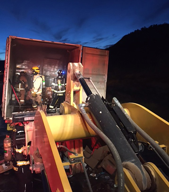 This semi fire shut down both lanes of I-17 for about 10 minutes Tuesday. After initial control of the exterior fire, one lane was opened up to southbound traffic.  One lane was kept closed for the duration of fire operations, salvage and overhaul that lasted approximately two hours, said Battalion Chief Steve Sarkesian.