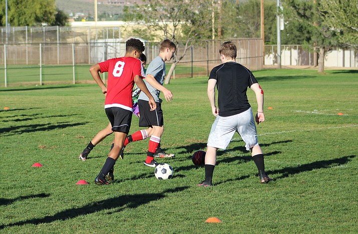 The Lee Williams boys soccer team practicing last week at Centennial Park. The Vols open the 2016-2017 season Nov. 29 when they host Kingman at 6 p.m.