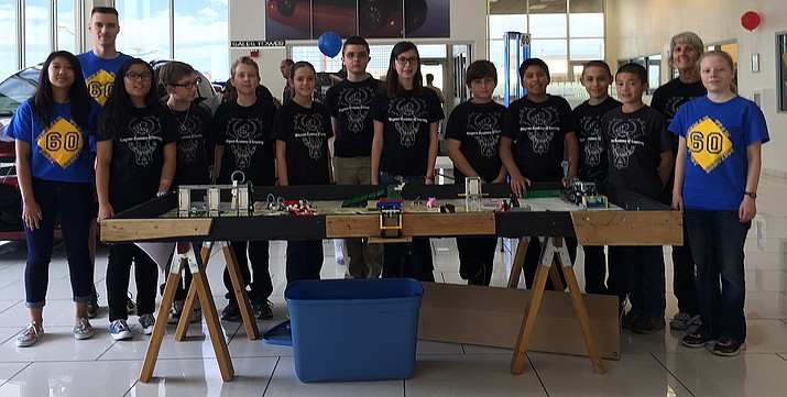 The Kingman Academy of Learning middle school's FIRST Lego League team3862.