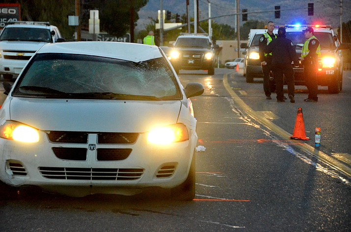 When officers arrived at 6 a.m., they discovered a man, current age unknown, lying on the roadway with what appeared to be multiple injuries, Moore said. . A white Dodge Stratus was also parked in the roadway with heavy damage to the hood and windshield, he added. (VVN/Vyto Starinskas)