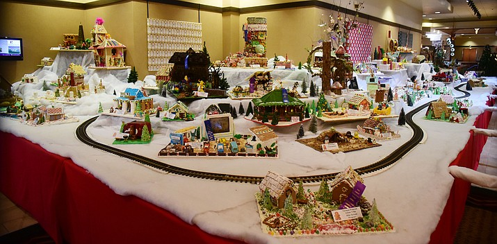 The 2016 World's Largest Gingerbread Village, has opened at the Prescott Resort & Conference Center, 1500 Highway 69. Participants from all over the city and state created decorative gingerbread houses. Display up through Jan. 2. Other special events at the resort: pictures with Santa from 11 a.m. to 2 p.m. Saturday, Nov. 26; and cookie decorating Saturdays, Dec. 3, 10 and 17. (Les Stukenberg/The Daily Courier)