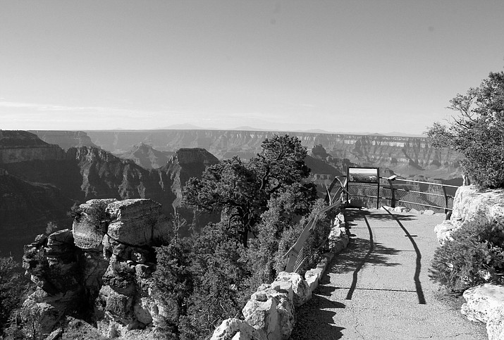 Prescribed burns were ignited near the North Rim developed area, including Bright Angel Point (pictured).