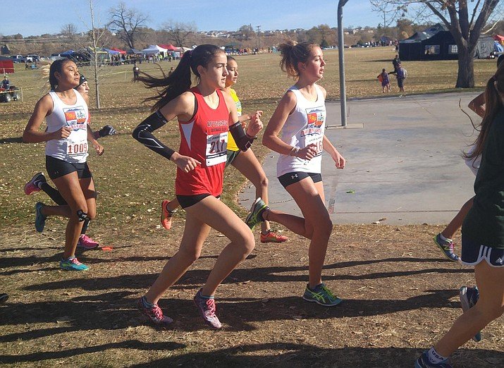 Cottonwood Aftershock club runner Allyson Arellano claimed the girls  17-18 title in the USATF Region 10 Cross Country Championships Saturday in Colorado. (Photo courtesy of Micah Swenson)