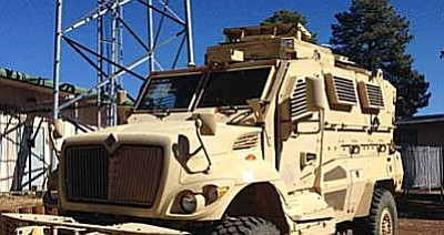 The Prescott Valley Town Council authorized its police department to join a program that sends former military equipment to police departments around the nation. (Courtesy photo)