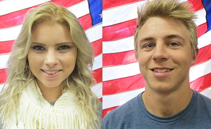 Alexandria Reynolds and Wyatt Howe are this month's Camp Verde High School students of the month.