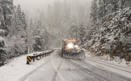 Got Snow? Sedona's Oak Creek Canyon had enough Monday afternoon to call the snowplows into service. Vvn/Vyto Starinskas