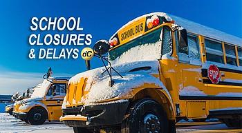 Friday's school, community delays and closures photo