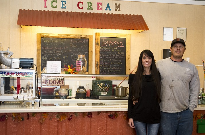Mike and Niki Kennelly opened Oh Sweetie Sept. 1 which serves ice cream and a variety of candies and sweets.