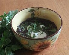 Black Bean Soup with Arugula