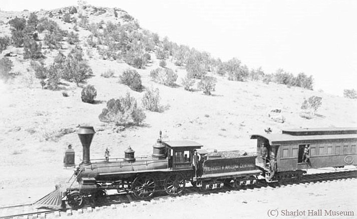 The F.W. Tritle was the first train to reach Prescott on the Prescott & Arizona Central Railroad, begun in 1886, but became lost in the history of Territorial lore.
