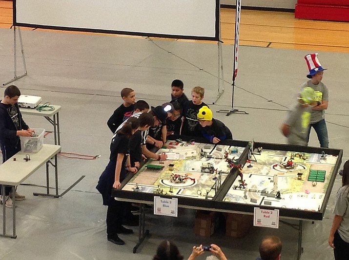 FIRST Lego League is a STEM program for 4-8 students, which consists of students designing and building an autonomous robot to compete on a playing field, conducting research, identifying a real world problem, and creating an innovative solution for that problem.