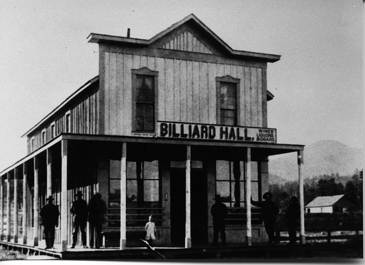 The Williams Billiard Hall provided wine, liquor and cigars in 1880.